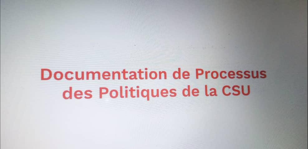 La Documentation de Processus des politiques de la CSU
